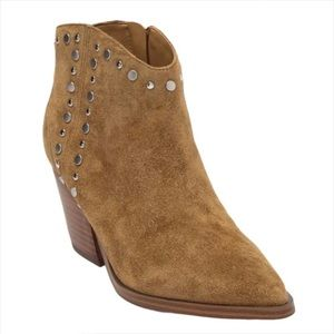 New MARC FISHER ML Deni Suede Studded Ankle Bootie